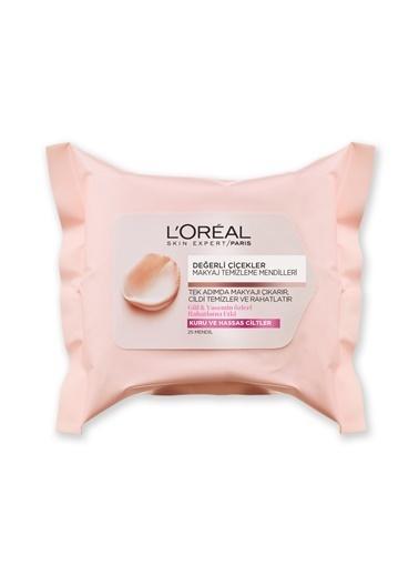 L'Oréal Paris Değerli Çiçekler Makyaj Temizleme Mendilleri Kuru Ve Hassas Ciltler Renkli
